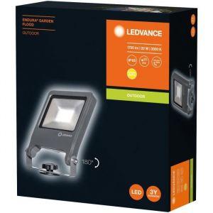 LEDVANCE Projecteur extérieur LED - 20 W - 1700 lm - IP65 - Aluminium - Gris foncé