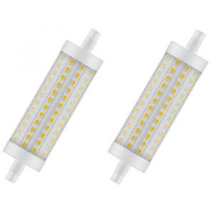 OSRAM Lot de 2 Ampoules crayon LED 118 mm R7S 12,5 W équivalent à 100 W blanc chaud