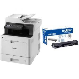 BROTHER Imprimante Multifonction 3-en-1 DCP-L8410CDW - Laser - Couleur - Réseau Wifi - A4 + Toner noir haute capacité TN2420