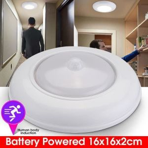 Dss-Lampe de plafond LED détecteur de mouvement à piles sans fil 120 °