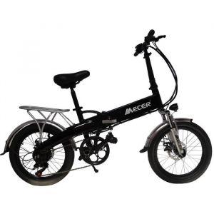 MECER Vélo pliant 20' électrique – Cadre alu - Autonomie 55km – 7 vitesses shimano – Assemblé en France - Noir