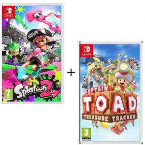 Pack 2 jeux Switch : Splatoon 2 + Captain Toad : Treasure Tracker