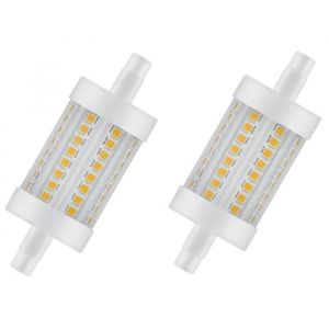 OSRAM Lot de 2 Ampoules crayon LED 78 mm R7S 8 W équivalent à 75 W blanc chaud dimmable