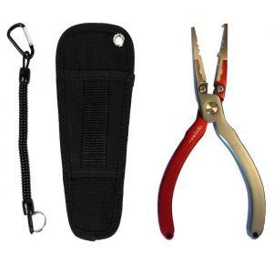 "IODA Pince en aluminium Frichy Multifonctions - Avec holster et dragonne - 16,5 cm - 6.5"""
