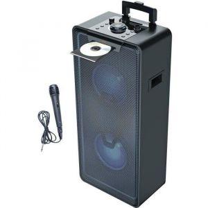 INOVALLEY MS04XXL - Système Audio High Power - 1000 Watts - Lecteur CD/MP3 - Bluetooth - Lumières LED - USB - 2 entrées Micro