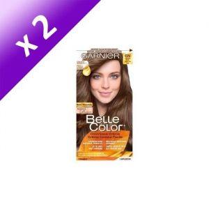 GARNIER Coloration 100% brun Kit racine - Châtain clair (Lot de 2)