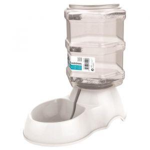 M-PETS Distributeur d'eau Hexagonal - 3500ml - Blanc - Pour chien
