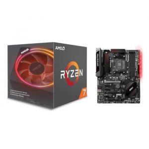 AMD Processeur Ryzen 7 2700X - ventirad Wraith Prism + MSI Carte mère X470 GAMING PRO  - Socket AMD AM4