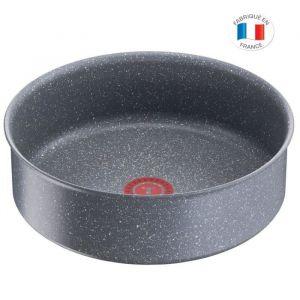TEFAL L6803502 Ingenio Sauteuse 24cm - Tous feux dont induction - Polyvalente -  Antiadhésif - Fabriqué en France - Effet Pierre