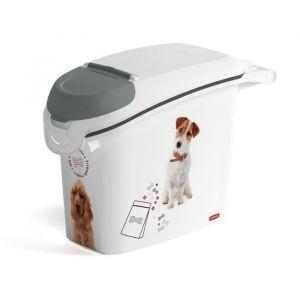 CURVER Conteneur à croquettes empilable 6 Kg Love pets - Blanc - Pour chien