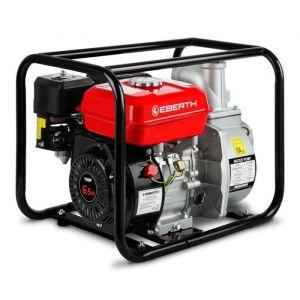 EBERTH 3- Pompe à eau thermique (60.000 l/h, 6,5 CV Moteur à essence, 30m Hauteur de refoulement, 7m Hauteur d'aspiration)