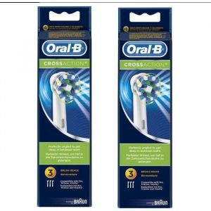PACK Oral-B Brossettes de rechange 2 x 3 CrossAction