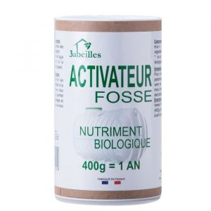 3 ABEILLES Activateur fosse - Nutriment pour fosse septique - 400 g