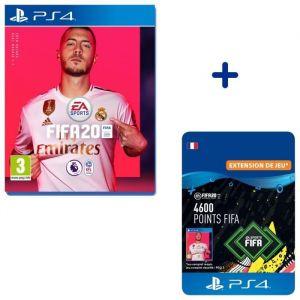 Pack PlayStation : FIFA 20 +  4600 Points FIFA pour FIFA 20 Ultimate Team™ - Code de Téléchargement pour PS4