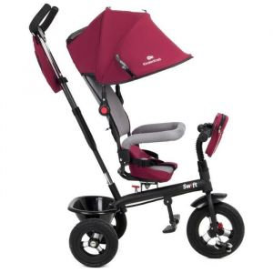 Tricycle SWIFT Trike 3 roues 1 - 5 ans enfant bébé poussette évolutif smart - KINDERKRAFT Tricycle Swift Rouge - Garçon et Fille - A parrir de 3 ans - Livré à l'unité