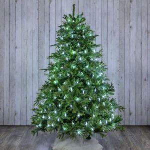 Filet lumineux pour arbre H 200 cm cm 195 LED avec contrôleur - Blanc froid