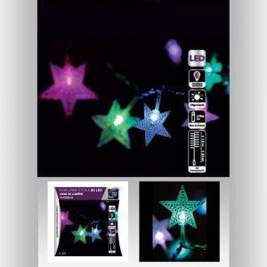 Guirlande lumineuse Intérieure Etoile 20 LED à Variations de couleurs