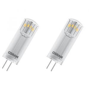 OSRAM Lot de 2 Ampoules capsule LED G4 claires 1,8 W équivalent à 20 W blanc chaud