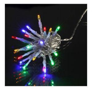 Guirlande de Noël LED extérieure filaire plastique - 3 m - Multicolore - Electrique