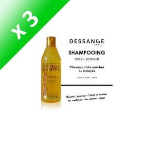 DESSANGE Mèches lumière Shampooing nutri-lustrant Pour cheveux méchés ou balayés - 250 ml (Lot de 3)