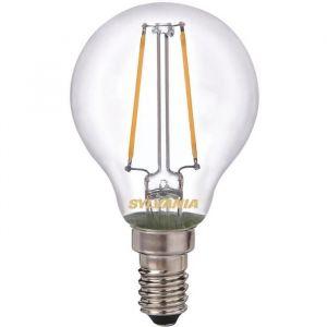 Led rétro sphérique filament 2.5W E14 250 Lm - blanc très chaud