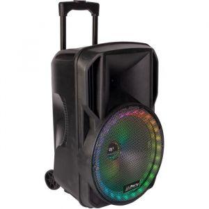 "PARTY LIGHT & SOUND 15-6115PLS Enceinte portable 12"" / 30 cm - USB, Micro SD, BT, FM, Micro VHF & télécommande"