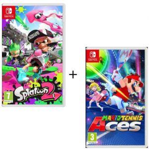 Pack 2 jeux Switch : Splatoon 2 + Mario Tennis Aces