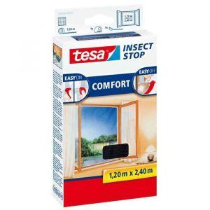 TESA Moustiquaire Comfort pour porte-fenêtres - 1,20 m x 2,4 m - Blanc