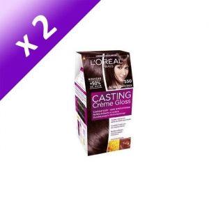 L'OREAL CASTING Crème Gloss Coloration Acajou (Lot de 2)
