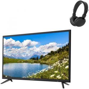 CONTINENTAL EDISON SMART TV 32'(80cm) HD (1366 x 728) - NETFLIX-Youtube-Miracast-Wi-Fi- 3*HDMI - 2*USB + Casque Bluetooth Noir