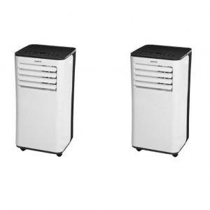 OCEANIC Pack de 2 climatiseurs mobiles 2600 watts - 9000 Btu - Programmable 24h - Classe énergétique A