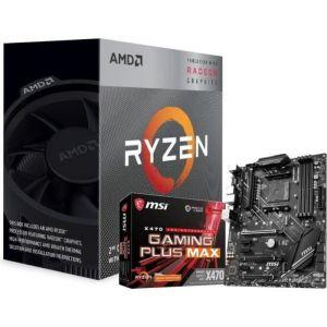 Pack AMD Processeur Ryzen 3 3200G Wraith Stealth cooler + Carte Mère MSI X470 Gaming Plus Max - AM4 ATX AMD X470