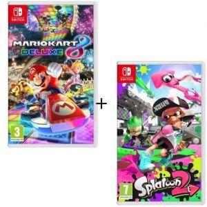 Pack 2 jeux Switch : Mario Kart 8 Deluxe + Splatoon 2