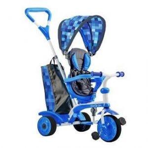 STROLLY - Tricycle Evolutif Strolly Spin - Bleu - MONDO Tricycle Evolutif Strolly Spin - Bleu - Garçon - A partir de 10 mois