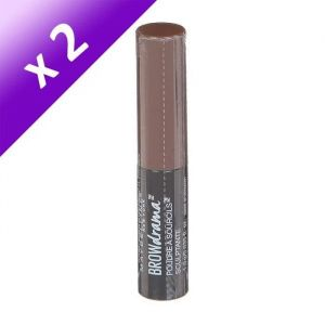 Lot De 2 - GEMEY MAYBELLINE Brow Drama Shaping Chalk Poudre Sourcils - 130 Marron