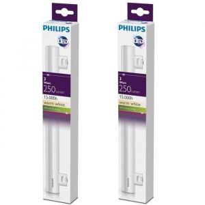 PHILIPS Lot de 2 tubes LED Philinea S14S 3 W équivalent à 35 W 300 mm