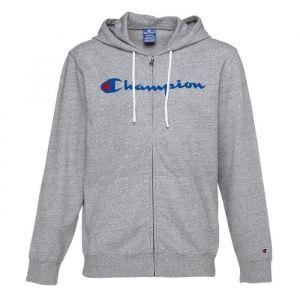 CHAMPION Sweatshirt zippé à capuche - Homme - Gris chiné