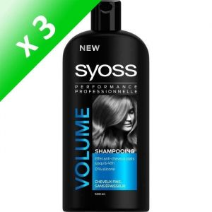 SYOSS Shampoing Volume - 500 ml (Lot de 3)