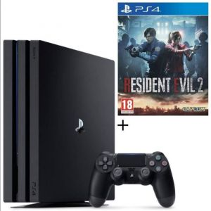 Pack PS4 Pro 1 To Noire + Resident Evil 2