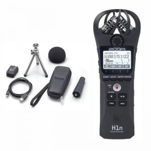 Zoom H1n Enregistreur numérique +  APH-1n Pack d'accessoires pour H1n comprenant : adaptateur secteur, support trépied de table