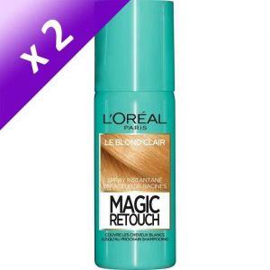 L'ORÉAL PARIS Coloration racine en spray Magic Retouch - 75 ml - Blond clair (Lot de 2)