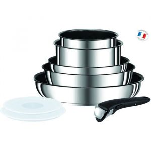 TEFAL Ingenio Preference Batterie de cuisine 8 pièces Inox Tous feux dont induction L9409802