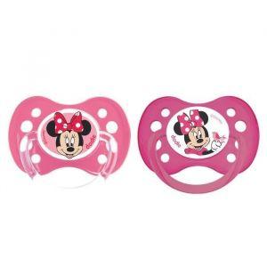 DODIE Sucette Anatomique Duo A64 Minnie - A partir de 6 mois - Disney Baby (Lot de 2)
