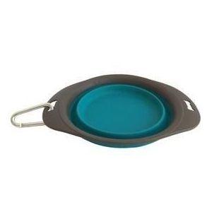 M PETS Gamelle pliable On The Road S - 20.5 x 15.5 x 5.5cm - 420 ml - Bleu turquoise et marron