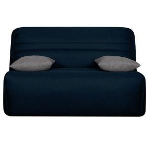OPS 100% FRANCAIS - GALA Banquette BZ - Tissu Bleu - Couchage quotidien - L142 x P96 x H90 cm