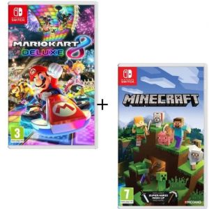 Pack 2 jeux Switch : Mario Kart 8 Deluxe + Minecraft