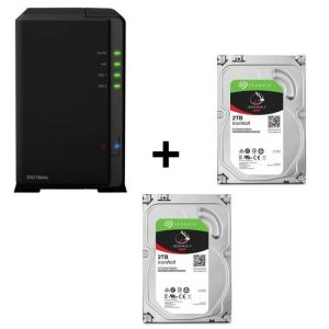 Pack SYNOLOGY DiskStation DS218play + 2 disques durs Iron Wolf 2To