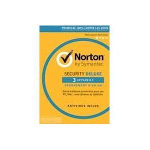 Norton Security 2017 Deluxe - 3 Postes - 1 an