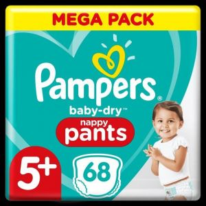 Pampers Baby-Dry Pants Couches-Culottes Taille 5+, 68 Culottes