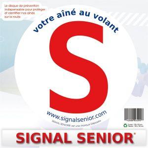 1 Disque De Prévention Routière Autocollant Pour Senior